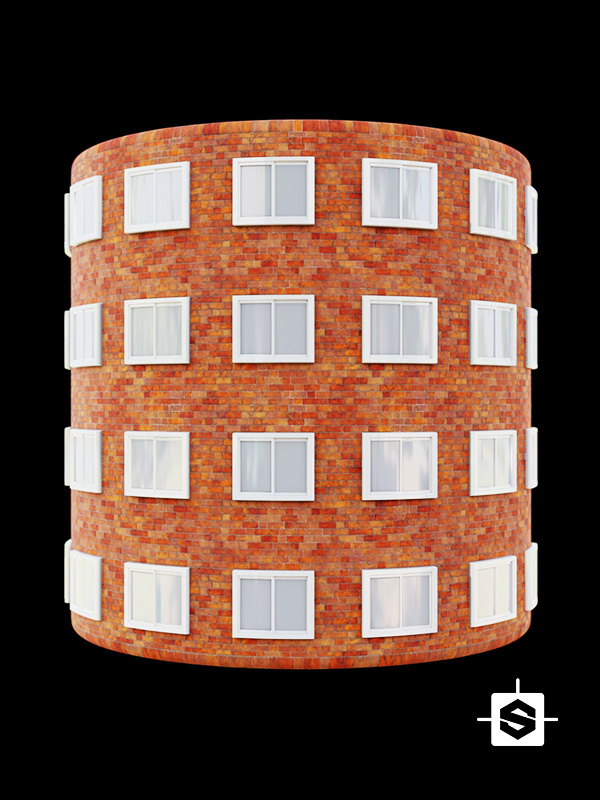 building facade brick windows wall skyscraper