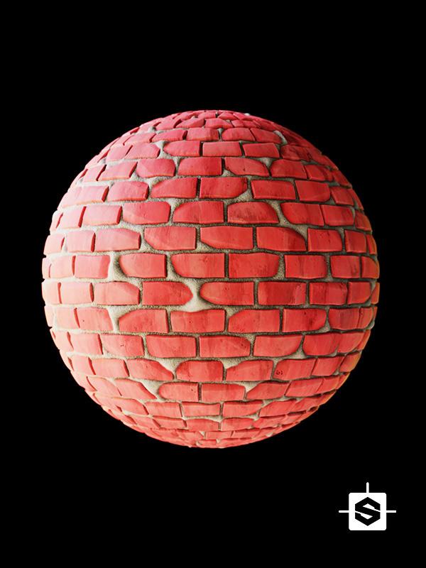 stylized bricks wall blocks