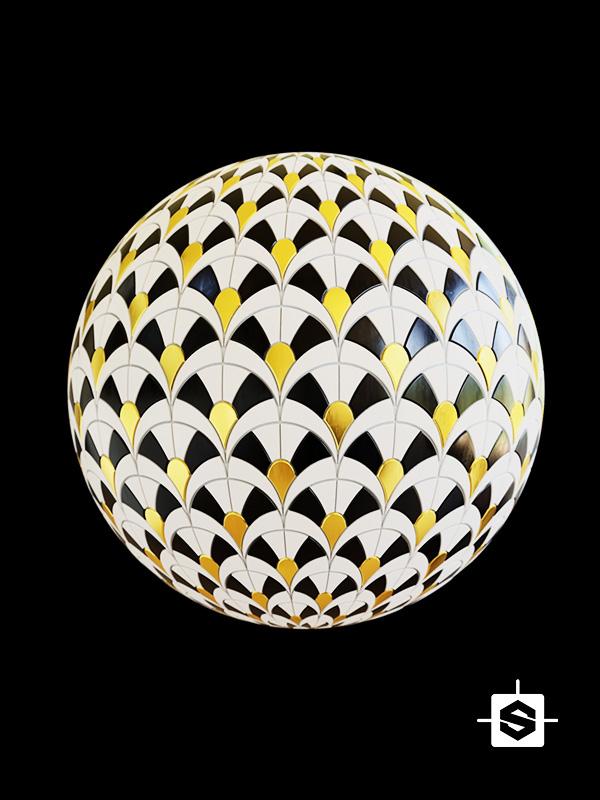 tiles ceramic vintage art deco