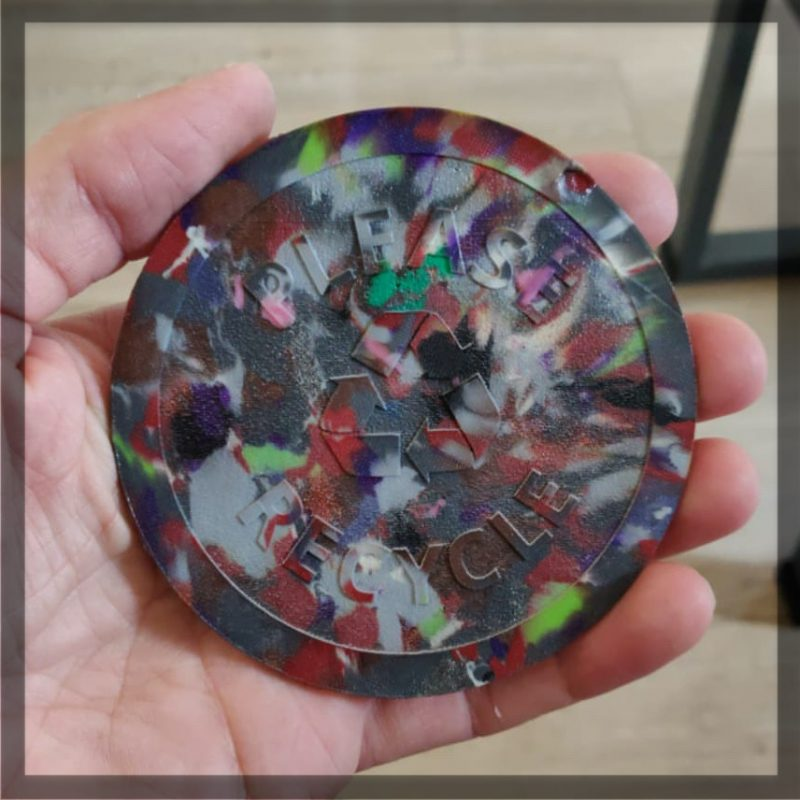 Recycled PLA coaster