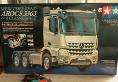 Bouw van de Tamiya Mercedes-Benz Arocs 3363