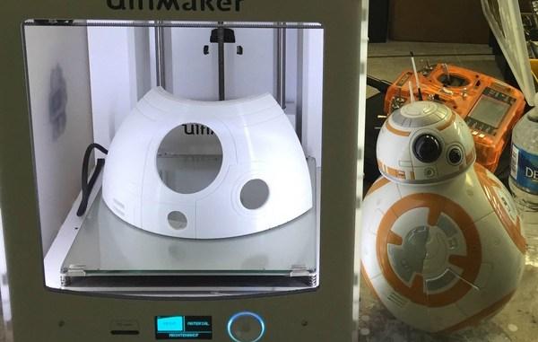 Modèles BB8 utilisant des imprimantes 3D