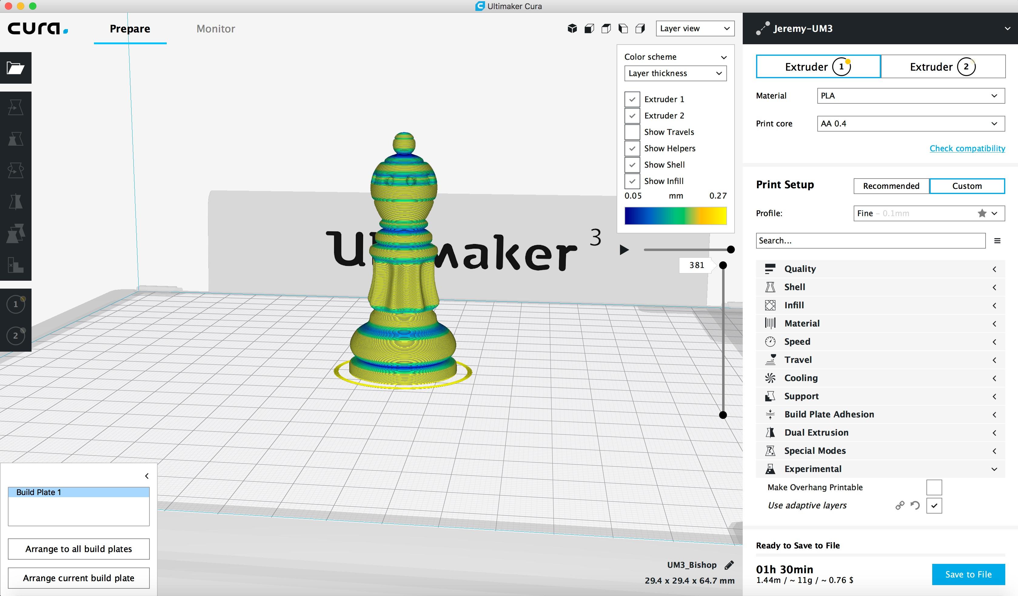 Ultimaker Cura Adaptive Layers Tutorial - 3D Universe