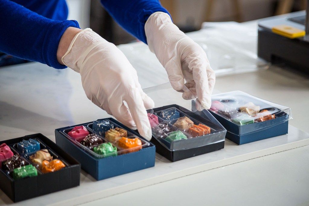Mayku FormBox used to create chocolates and packaging