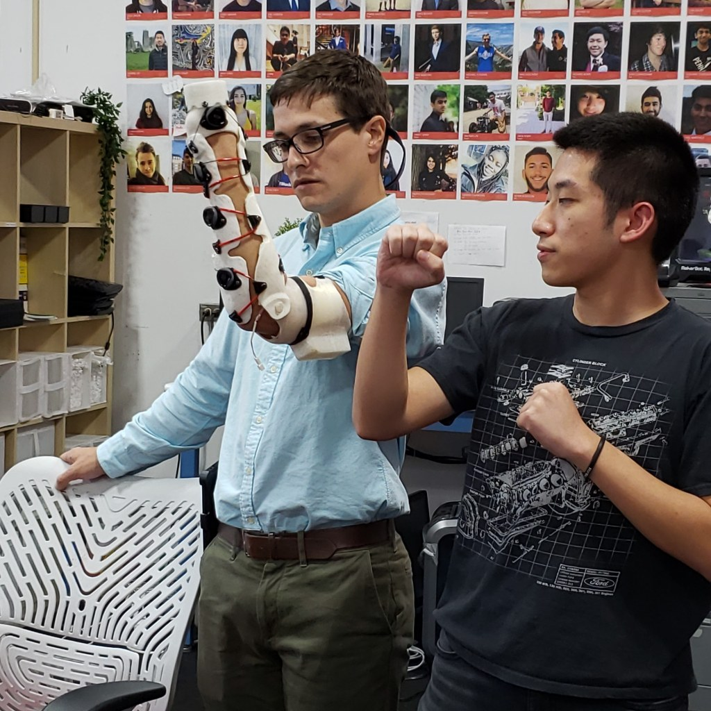 Bionic Glove Project sharing their new flexible arm design