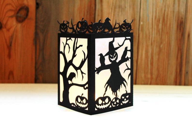 Halloween themed laser cut lanterns