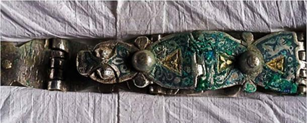 A Viking era hinged silver strap - Photo credit: ancient-origins.net