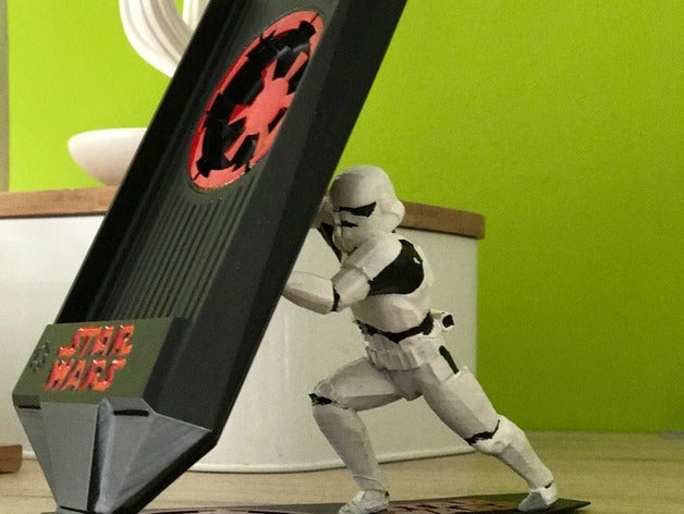 3D Printed Storm Trooper cell phone stand