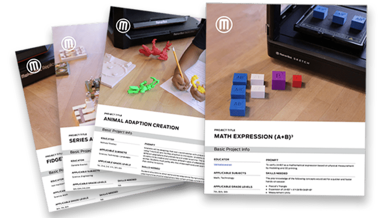 MakerBot Sketch lesson plans