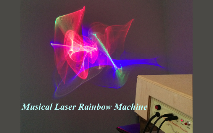 Musical Laser Rainbow Machine created with an Ultimaker 3D printer