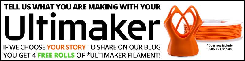 Share your Ultimaker story for a chance to get 4 rolls of free filament!