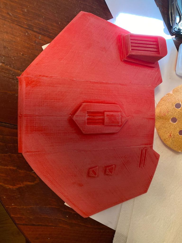 Serial Kilter 3D Printed Heavy Infantry Mandalorian Armor before being painted and sanded