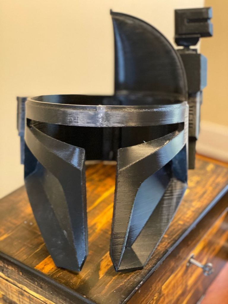 Serial Kilter 3D Printed Heavy Infantry Mandalorian Armor helmet