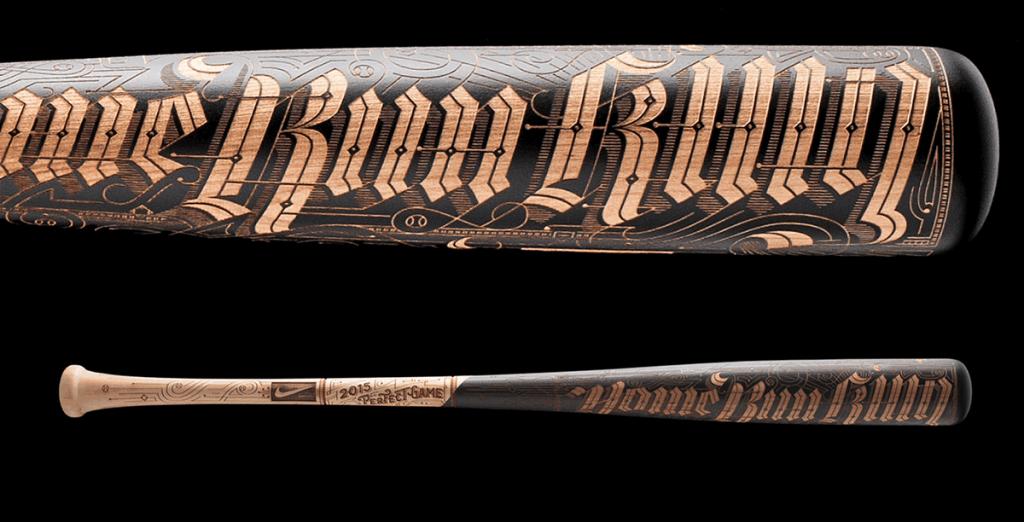 Laser etched bat by Big Secret