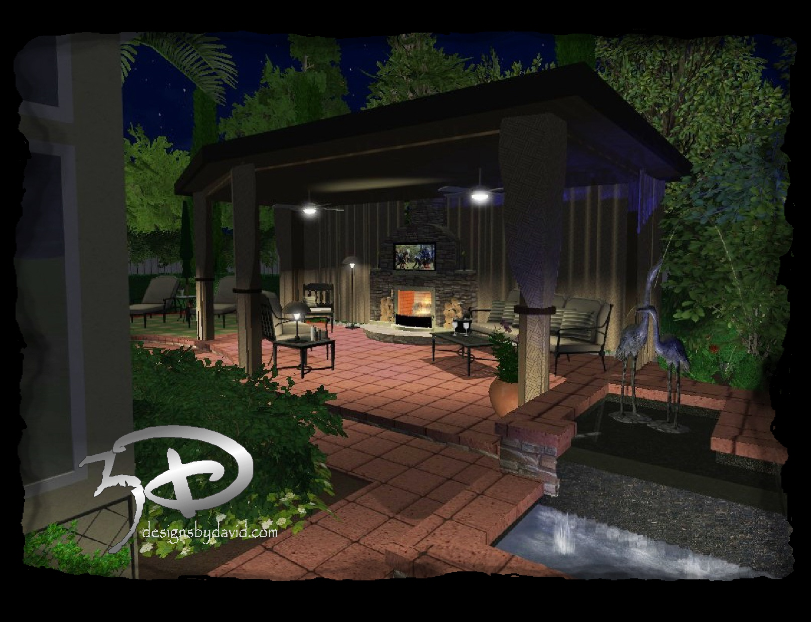 outdoor living spaces 3d designs by david