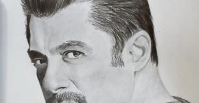 salman khan drawing