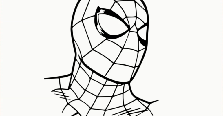 spiderman face drawing
