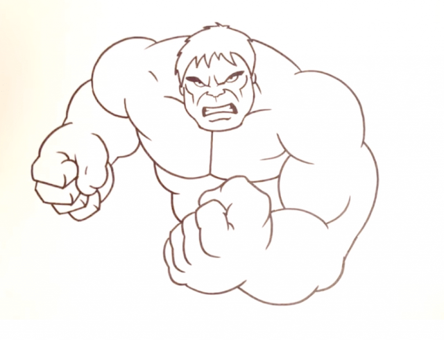 Hulk Drawing Easy