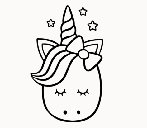Cute Unicorn Drawing