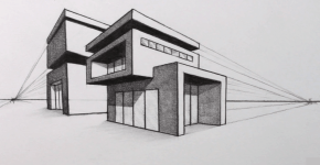 house sketch, How to draw house, House drawing
