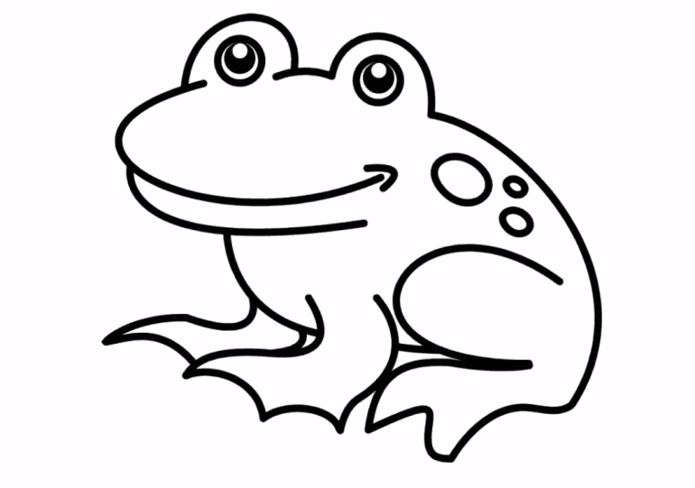 How to draw a Frog Easy