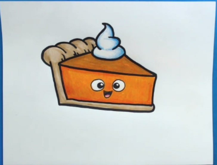 pumpkin pie drawing