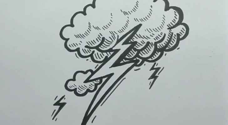 how to draw a lightning bolt