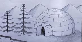 igloo drawing