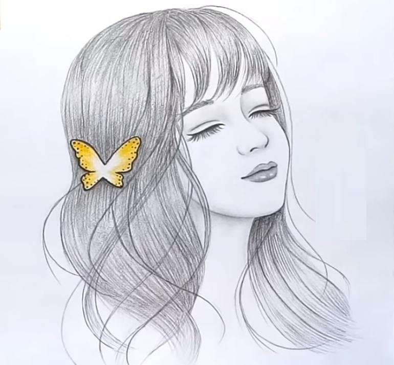 Beautiful girl sketch