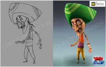 3D Cartoon Character Render