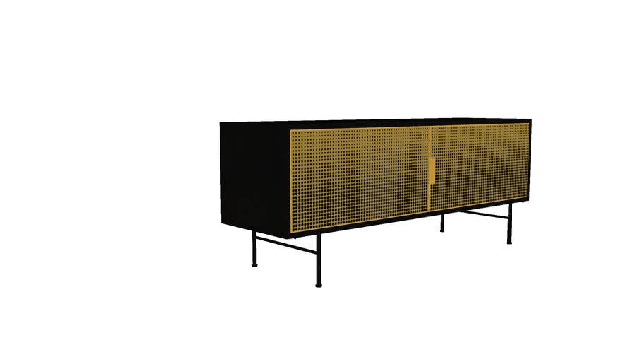 jagger meuble tv 2 portes en metal