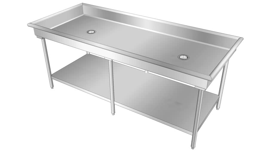 stainless steel sink table 3d warehouse
