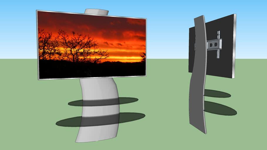 meuble tv support mural 3d warehouse