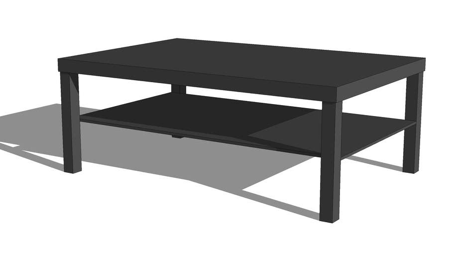 table basse ikea lack brun noir