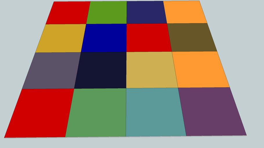 tapis ikea uldum multi color 230x230x1