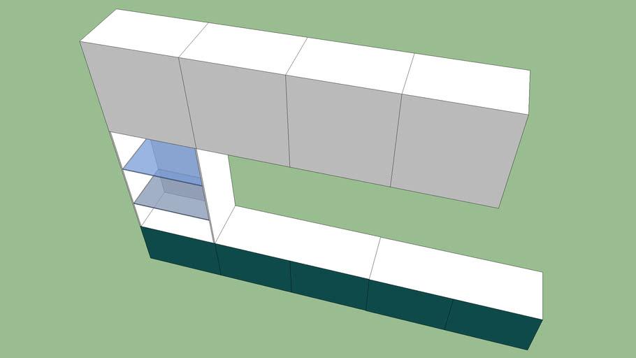 ikea besta meuble tv 3d warehouse