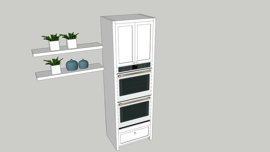 oven and microwave combination cabinet
