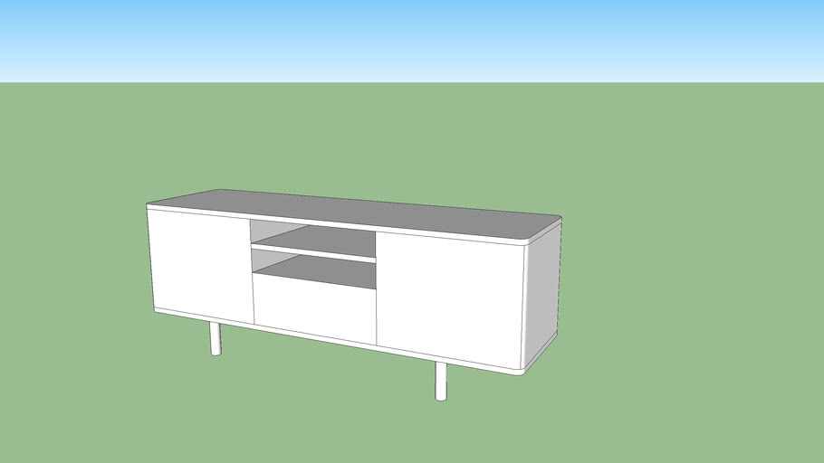 meuble tv mostorp ikea 3d warehouse