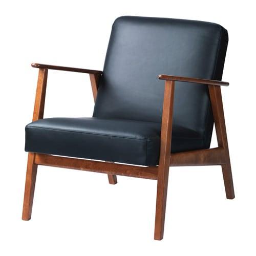 fauteuil bleu cuir ikea salon 3d
