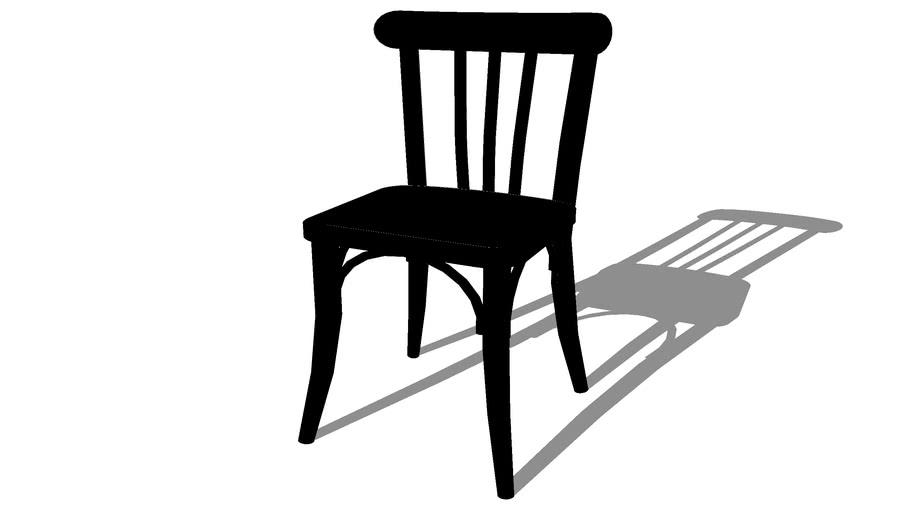 troquet chaise de bistrot en bois
