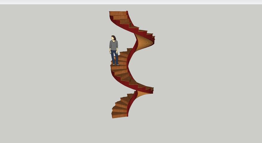 Spiral Staircase Loretto Chapel 3D Warehouse   Chapel With Spiral Staircase   Catholic Church   Stairway   Miraculous   Choir Loft   Sante Fe