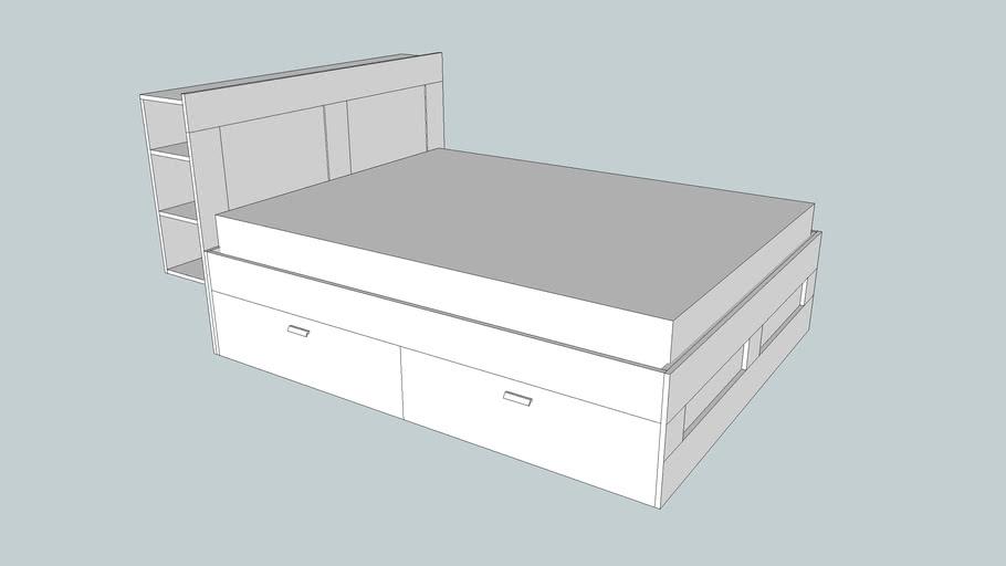 ikea brimnes bed frame and headboard