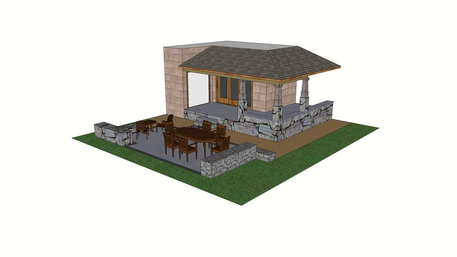 patio design 3d warehouse
