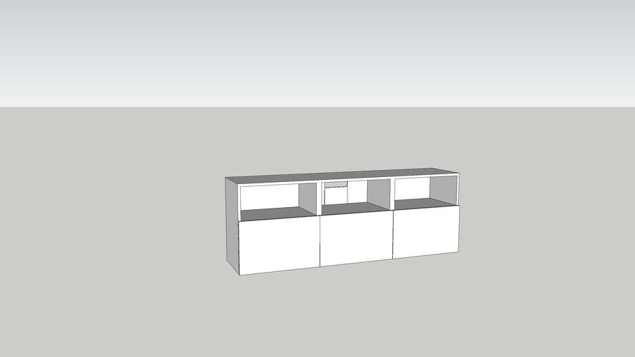 besta banc tv 180x40x64 3d warehouse