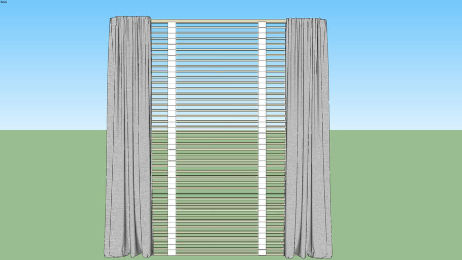 double window treatment curtains with