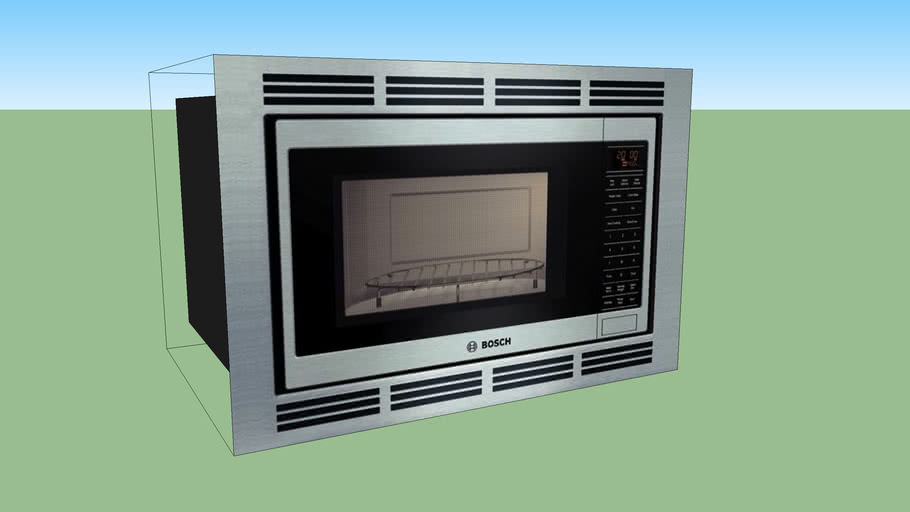 convection microwave oven 3d warehouse