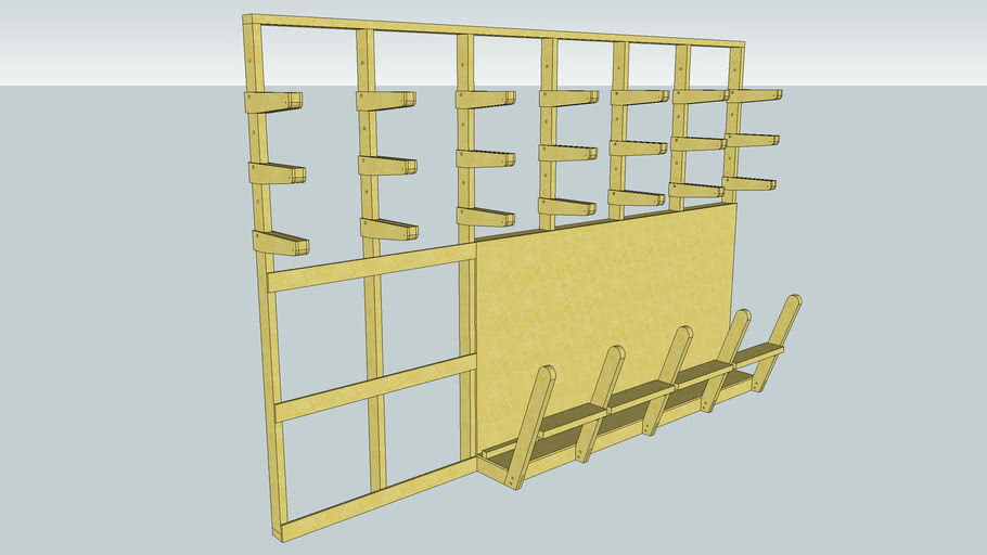 lumber storage rack 3d warehouse