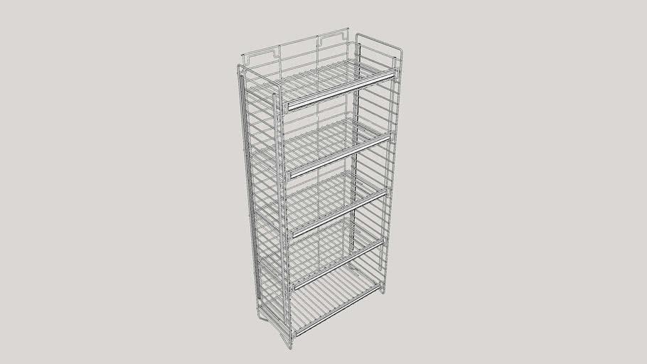 wire rack shelf 3d warehouse