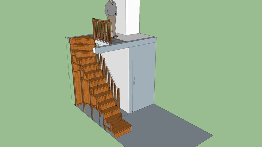Staircase Small Space 3D Warehouse | Stairs For Small Spaces | Modern | Living Room | Beautiful | Design | Metal