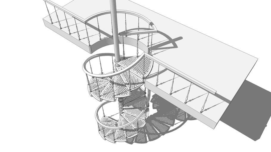 Cast Iron Spiral Staircase 3D Warehouse   Cast Iron Spiral Staircase   Modern   Traditional   Stair Case   Kitchen   Railing